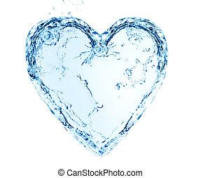 水, 心, 作られた