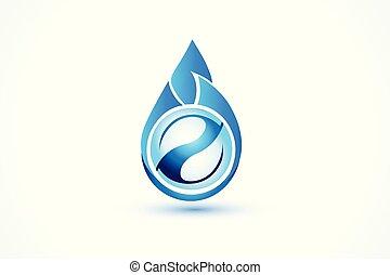 水, 標識語, 下降