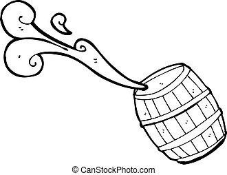 水, 樽, 漫画