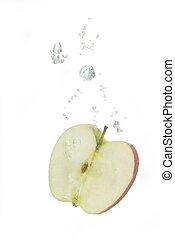 水, 泡, アップル, 空気