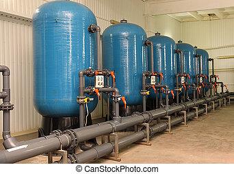 水, 浄化, フィルター, 装置