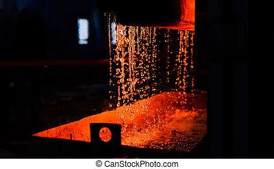 水, 火, furnace., 重い, oven., 抽象的, 金属, 背景, workshop., metallurgy., 偽造すること, plant., curtain., casting., texture., steelmaking, 植物
