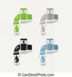 水, 現実的, element:, デザイン, 蛇口