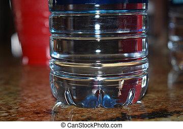 水, 瓶子, 底部