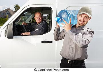 水, 發送服務, 人, 由于, bottle.