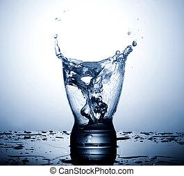 水, 白, はね返し, 隔離された, ガラス