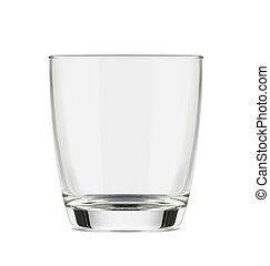水, 白, 隔離された, ガラス
