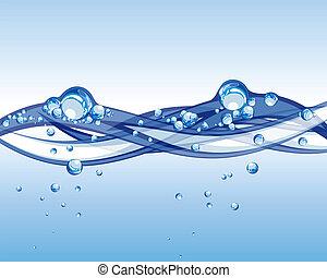水, 矢量
