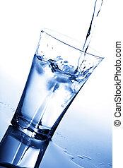 水, 立方体, 氷, ガラス, はねかけること