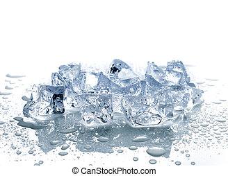 水, 立方体, 氷