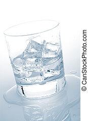 水, 立方体, 鉱物, 氷