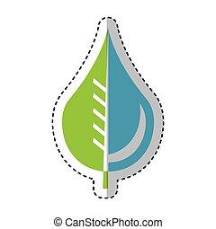 水, 紋章, 低下, 葉, 純粋