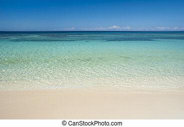 水, 綠松石, 海灘