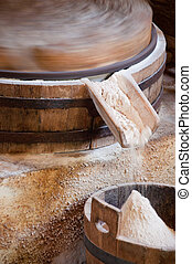 水, 製粉所, grist, 動力を与えられる