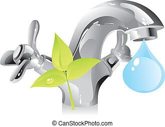 水, 資源, -, 自然