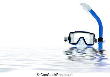 水, 跳水, 瞪眼看, 反映