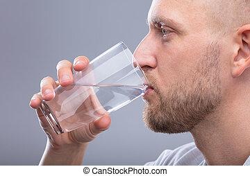 水, 飲むこと, 人