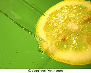 水, 3, レモン