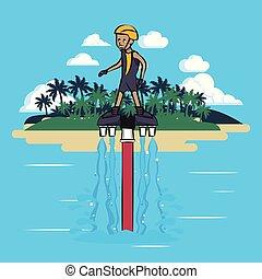 水, flysurfing, スポーツ