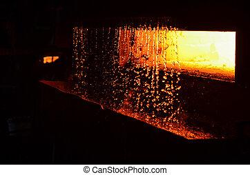 水, furnace., 重い, oven., 抽象的, industry., 背景, workshop., 高く, 溶けること, 偽造すること, 温度, plant., curtain., texture., metallurgical, steelmaking, 植物