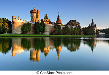 水, laxenburg, より低い, オーストリア, 城