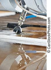 水, metalworking, 切断, ジェット機