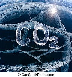 氷った, 化学物質, co2, 方式, 二酸化炭素