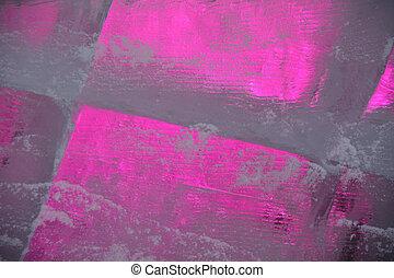 氷ブロック, ∥で∥, 明るい, 紫色, ライト