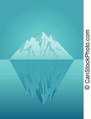 氷山, イラスト