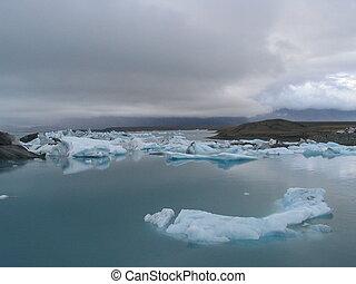 氷河, 湖, 氷