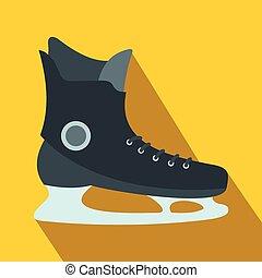 氷, アイコン, スケート, 平ら