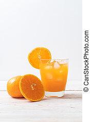 氷, オレンジジュース