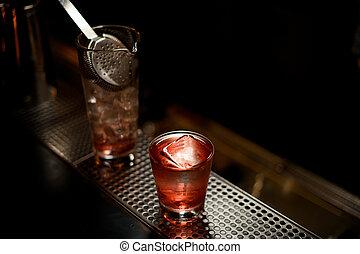 氷, 打撃, ガラス, 2, アルコール, 終わり