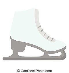 氷, 隔離された, スケート