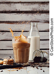 氷, latte