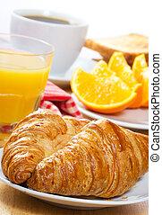 汁, 咖啡, 早餐, croissants