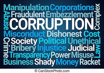 汚職, 単語, 雲