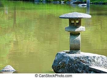池, ランタン, 庭の日本人