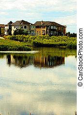 池, 家, 近くに
