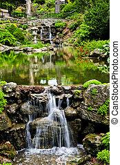 池, 滝, 滝のように流れ落ちる
