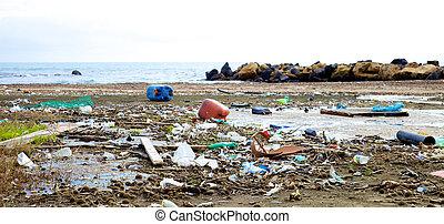 污染, 在中, 世界, 气候, 灾祸