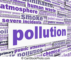 污染, 消息, 概念性, 設計