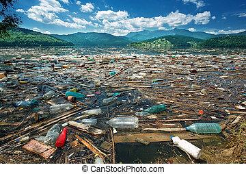 污染, 美丽, 风景
