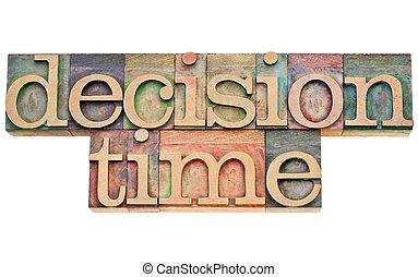 決定, 時間