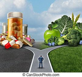 決定, 藥物處理