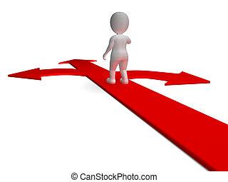 決定, 選択肢, 提示, 矢, 選択, ∥あるいは∥, chosing