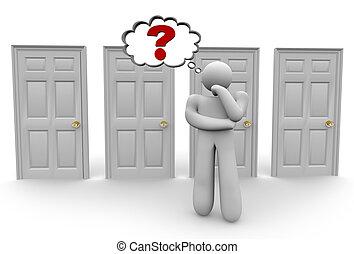 決定, 2, ドア, 選びなさい