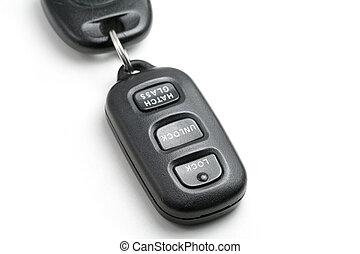 汽車鑰匙, 以及, 遙控
