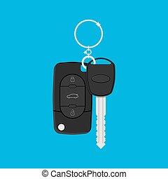 汽車鑰匙, 由于, 警報, 以及, 鏈子