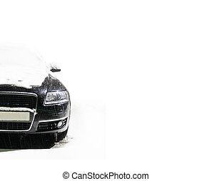 汽車, 上, the, 冬天, 路